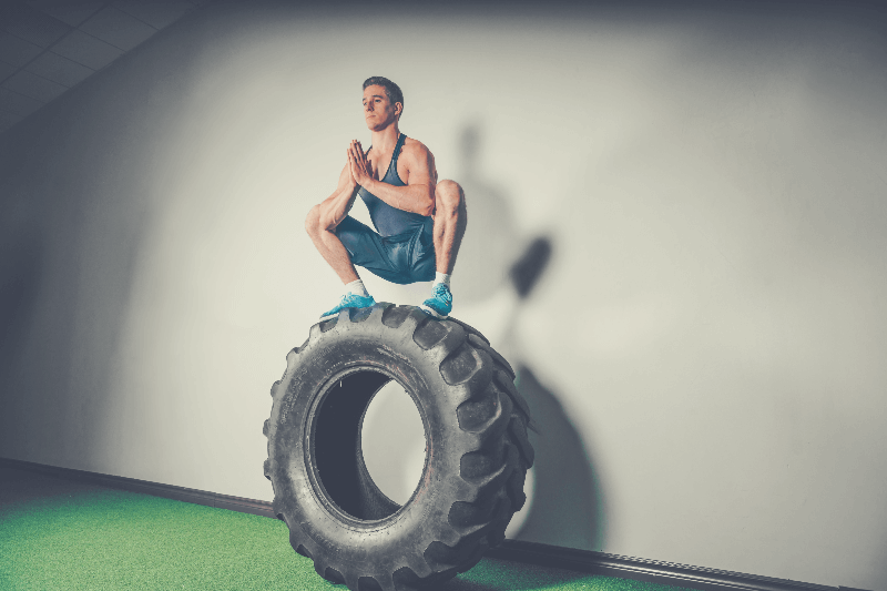 a person stability on a tire