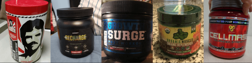 all 5 recovery drinks I've used