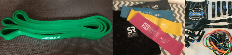 my 3 different types of resistance bands