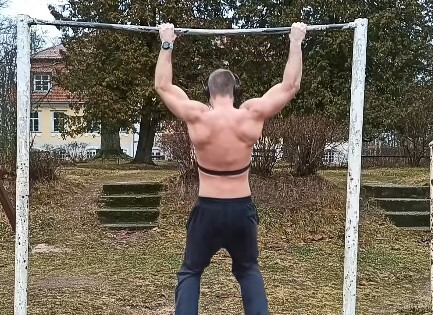 Example of negative pull-ups